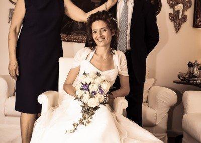 Attimi di emozione e felicità prima del matrimonio