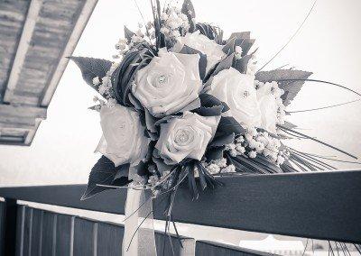 Il bouquet della sposa prima di raggiungere l'altare