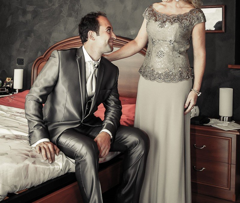Il giorno del matrimonio, le ore che precedono la promessa