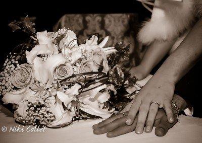 Le fedi come simbolo delle reciproche promesse d'amore