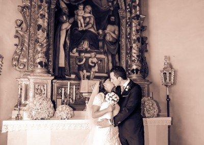 Foto di rito dopo la celebrazione del matrimonio