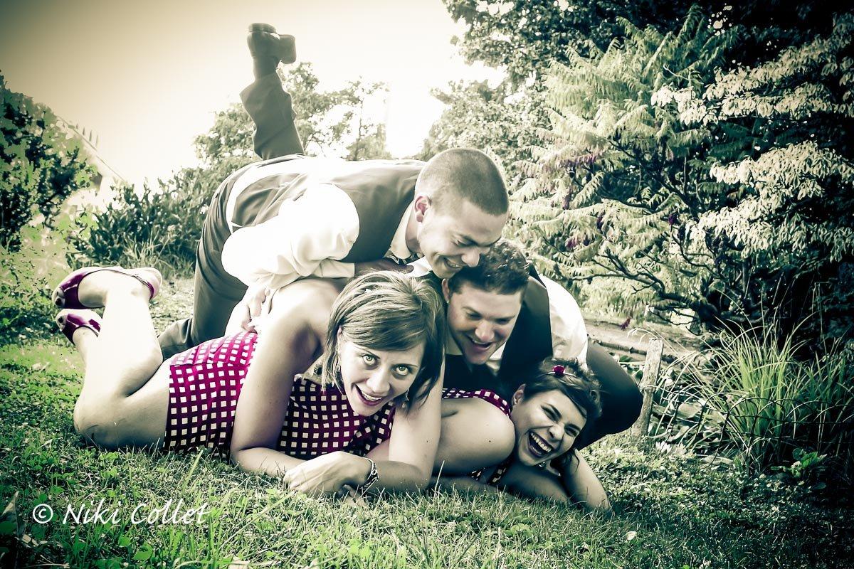 La felicità e il divertimento di chi accompagna gli sposi nel giorno più bello!