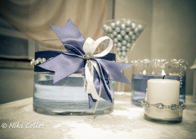 Candele profumate e sfumature di blu