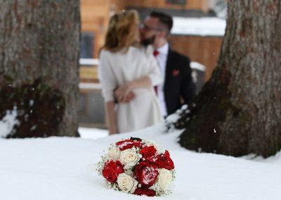 Fotografie matrimoni sulla neve