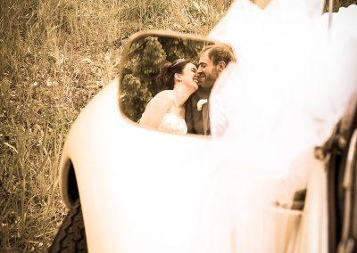 Foto romantiche matrimonio: immagini riflesse
