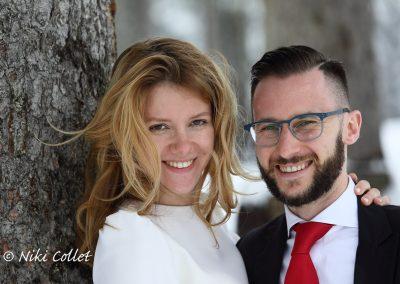 La felicità degli sposi fotografia di matrimonio