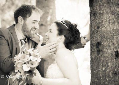 Sguardi di complicità fotografie di matrimonio