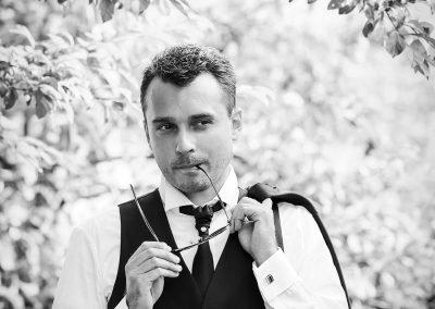 Servizio fotografico di matrimonio in bianco e nero