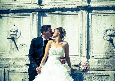 Fotografie di matrimonio effetti di luce e contrasti di colori