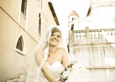 Fotografia di matrimoni in città storica Sposa
