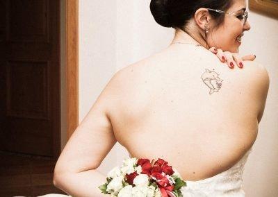 Sposa e bouquet Fotografo matrimoni