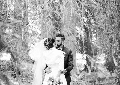 Servizio fotografico di matrimonio effetto bianco e nero