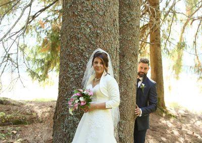 Alberi sposi fotografia di matrimonio