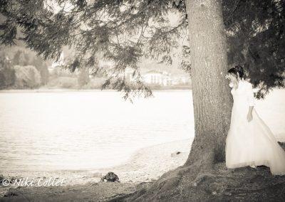 servizio foto matrimonio al lago