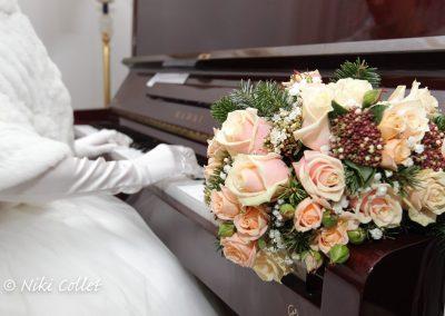 bouquet e pianoforte servizi fotografici di matrimonio