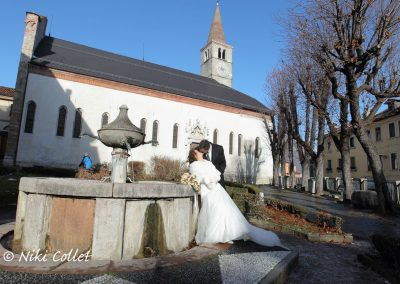 Sposa dopo la cerimonia servizi fotografici matrimonio di Niki Collet