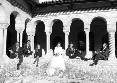ritratto di sposi testimoni e amici servizi fotografici matrimonio di Niki Collet