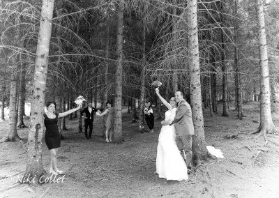 Bouquet effetto bianco e nero foto matrimonio