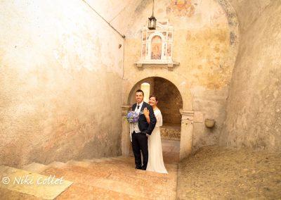Fotografia di matrimoni giovani sposi