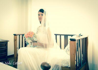 Sposa e bouquet servizio fotografico matrimonio