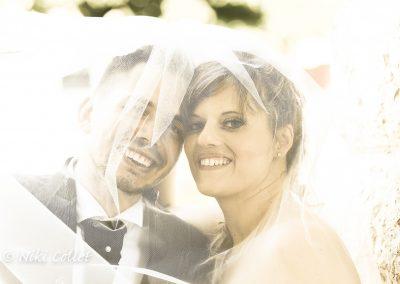 Sposi sorridenti fotografie di matrimonio