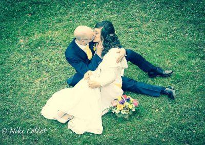 Bacio sposi servizi fotografici di matrimonio Niki Collet