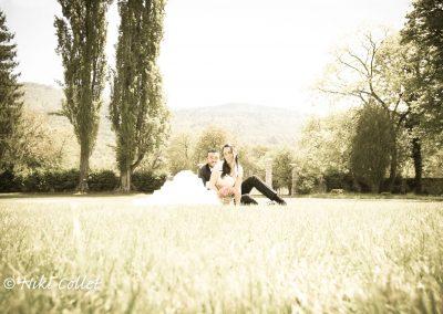 Fotografia di matrimonio all'aperto fotografo professionista