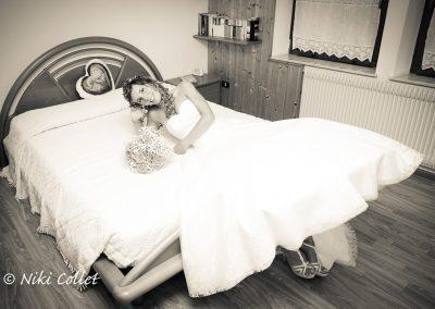Sposa in attesa della cerimonia servizio fotografico matrimoni