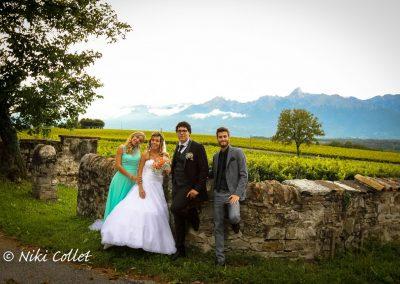 Sposi e testimoni fotografo di matrimonio