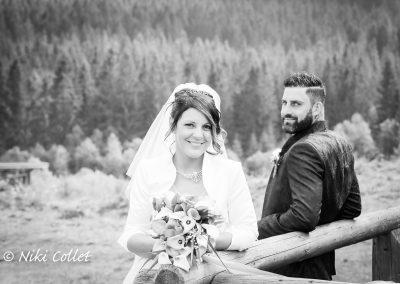 immagine in bianco e nero per servizio fotografico sposi